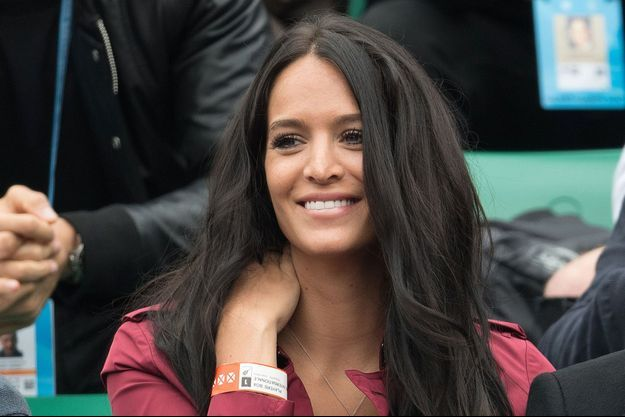 Jade Lagardère dans les tribunes de Roland Garros.