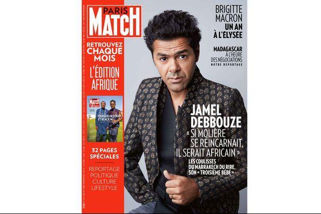 """Jamel Debbouze en Une de Match Afrique. Il nous invite dans les coulisses du Marrakech du rire, son """"troisième bébé""""."""