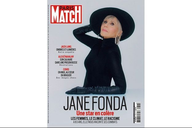 Jane Fonda en couverture du numéro 3756 de Paris Match.