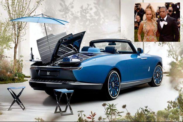 Cette voiture cabriolet conçue pour partir en pique-nique est censée évoquer la Côte d'Azur... une région où le couple a ses habitudes