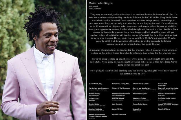 Jay-Z et la publication dans de nombreux titres américains.