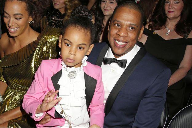 Jay-Z et Blue Ivy Carter aux Grammy Awards le 12 février 2017