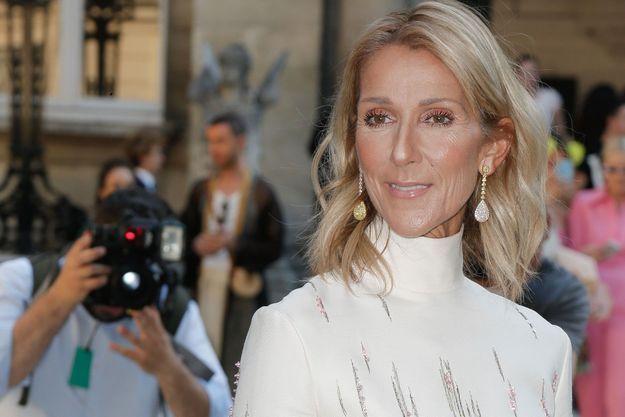 Céline Dion à la Fashion Week de Paris.