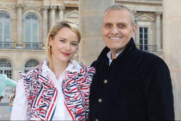 Pauline et Jean-Charles de Castelbajac à Paris en juillet 2021