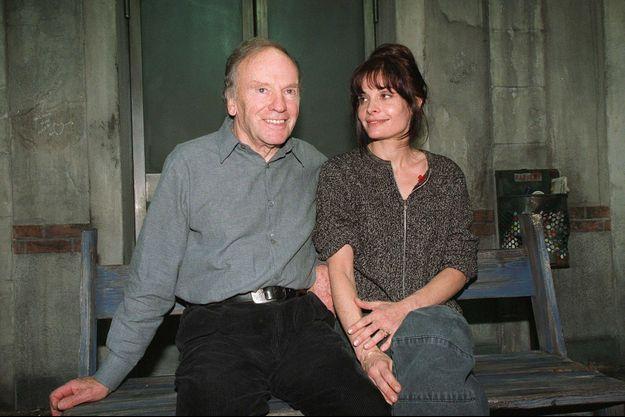 Jean-Louis Trintignant et sa fille Marie au temps du bonheur.
