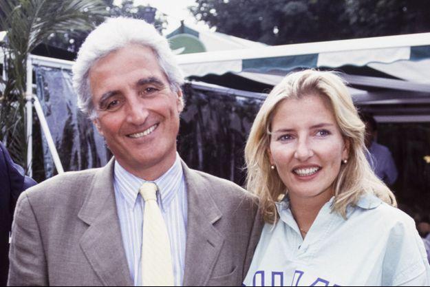 Jean-Loup Dabadie et sa fille Clémentine lors du tournoi de Roland-Garros à Paris en juin 1993.