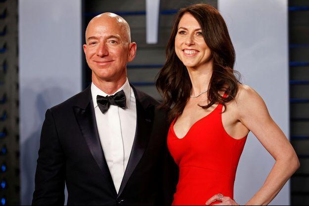 Jeff Bezos et sa future ex-femme, MacKenzie Bezos.