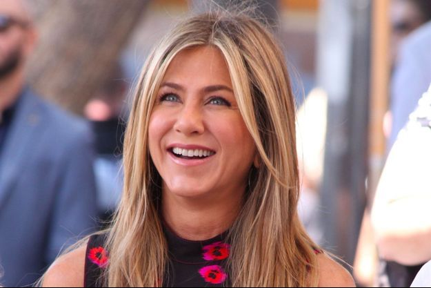 Jennifer Aniston sur le Walk of Fame à Hollywood, le 26 juillet 2017
