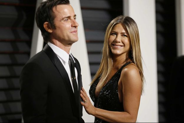 Justin Theroux et Jennifer Aniston en 2017.