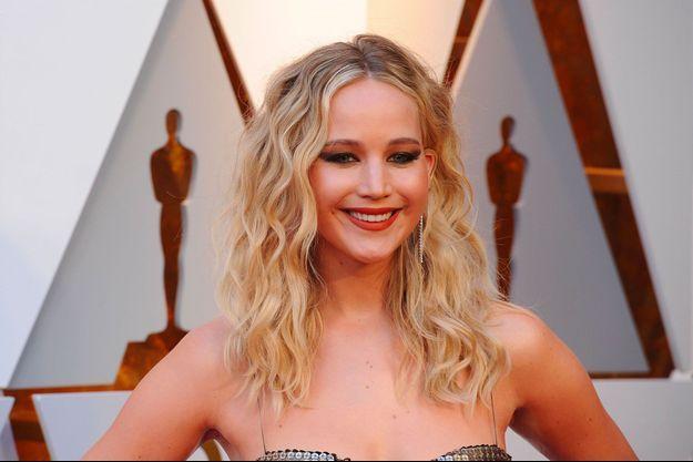 Jennifer Lawrence à la cérémonie des Oscars à Los Angeles, le 4 mars 2018
