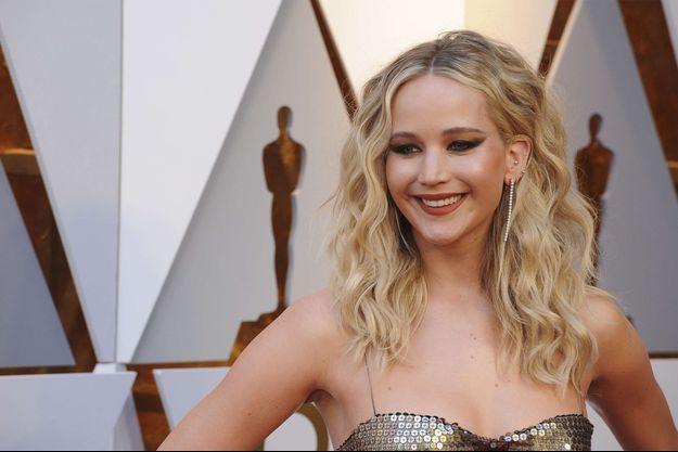 Jennifer Lawrence aux Oscars en 2018.