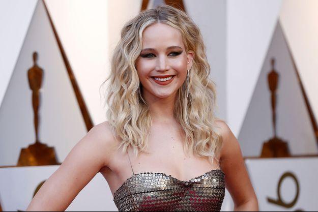 Jennifer Lawrence aux Oscars en 2018
