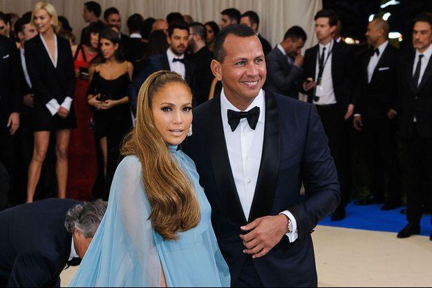 Jennifer Lopez et Alex Rodriguez lors du Met Gala en 2017