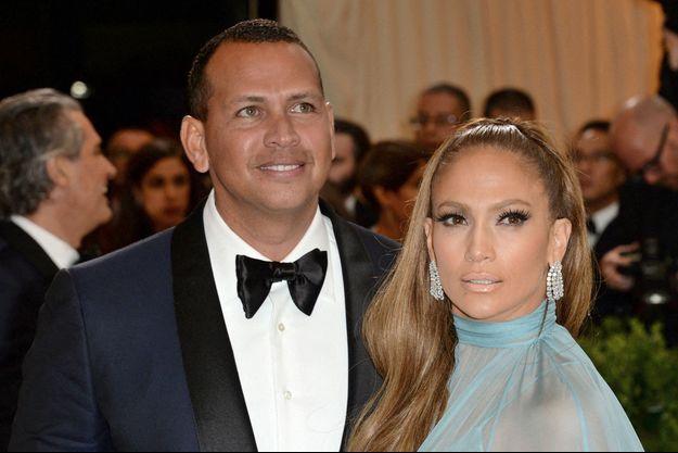 Alex Rodriguez et Jennifer Lopez ici en mai 2017.