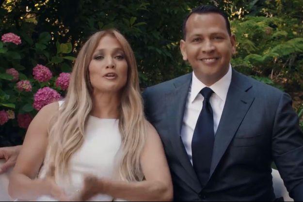 Jennifer Lopez et Alex Rodriguez en juin 2020.