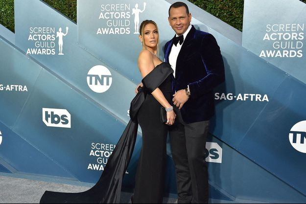 Jennifer Lopez et Alex Rodriguez en janvier 2020