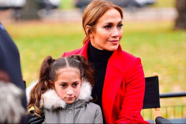 Jennifer Lopez et sa fille Emme, décembre 2017