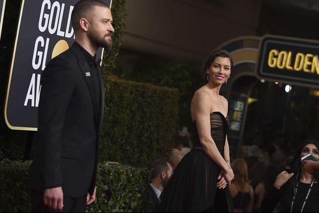 Justin Timberlake et Jessica Biel aux Golden Globes en 2018