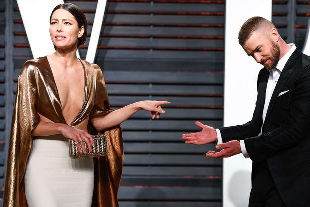 Justin Timberlake et Jessica Biel lors de la soirée Vanity Fair, le 26 février 2017.