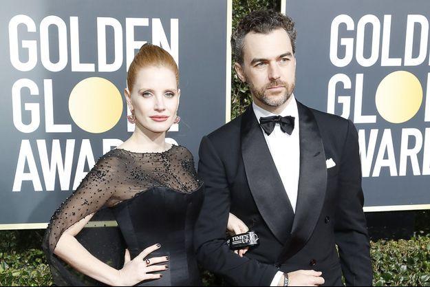 Jessica Chastain et son mari Gian Luca Passi de Preposulo