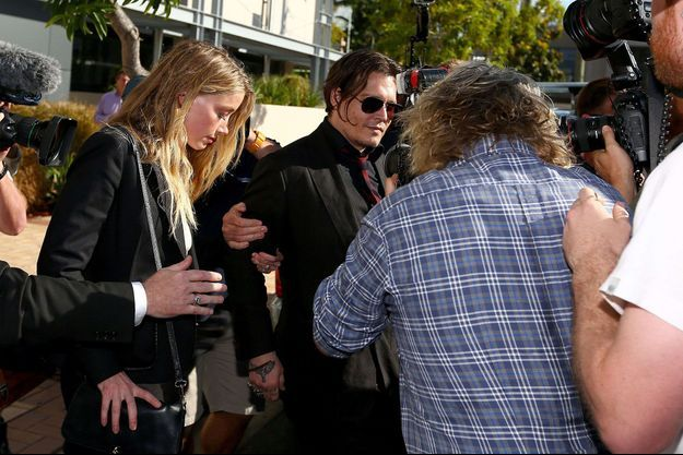 Johnny Depp et Amber Heard en Australie en avril 2016.