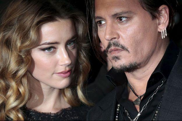 Amber Heard et Johnny Depp en octobre 2015.