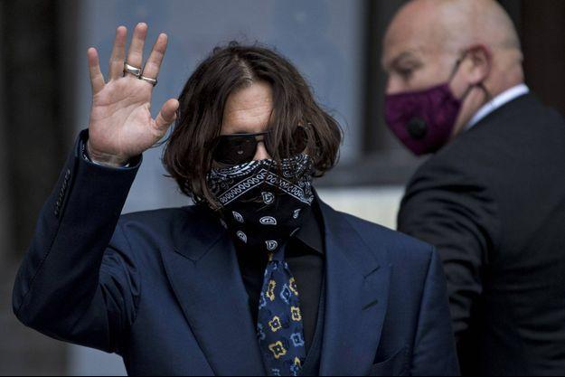 Johnny Depp à Londres jeudi.