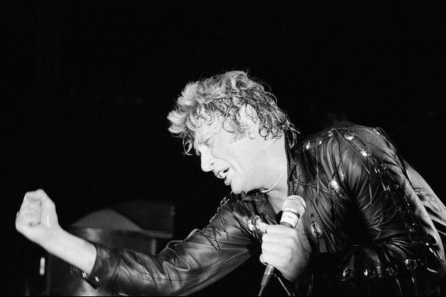 Johnny en concert à Bruxelles en février 1981.