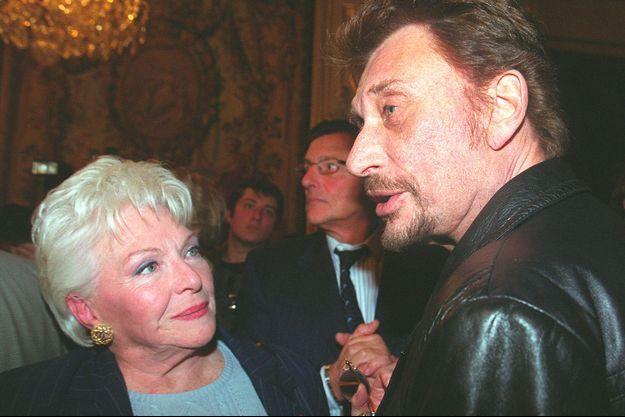 Johnny Hallyday et Line Renaud en 1999