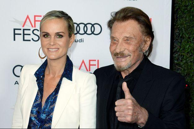 Johnny Hallyday et son épouse Laeticia à Hollywood, en novembre 2016.