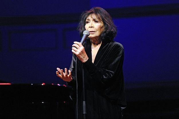 Juliette Gréco en concert à Hambourg en 2015