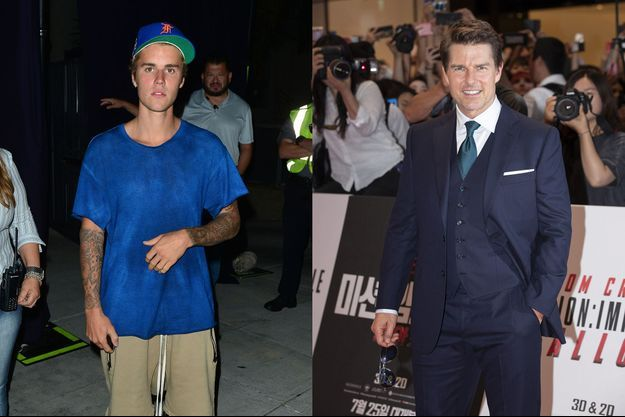 Justin Bieber et Tom Cruise