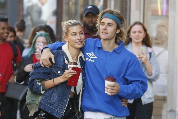 Hailey Baldwin et Justin Bieber à Londres, le 17 septembre 2018
