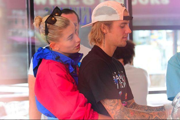 Justin Bieber et Hailey Baldwin à New York le 30 juillet 2018