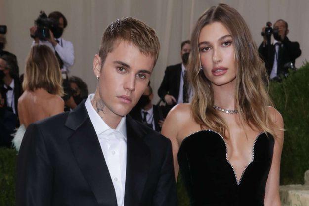 Justin Bieber et Hailey Baldwin le 13 septembre 2021.