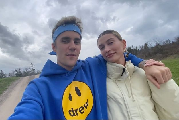 Hailey et Justin Bieber en mai 2020.