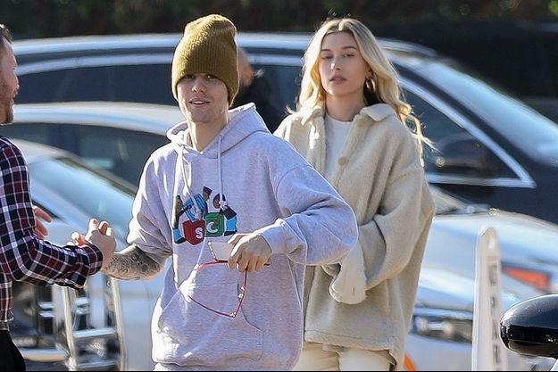 Justin et Hailey Bieber à Los Angeles le 22 novembre 2019