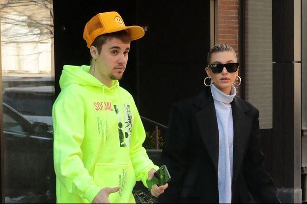 Justin Bieber et Hailey Baldwin à New York, le 13 mars 2019