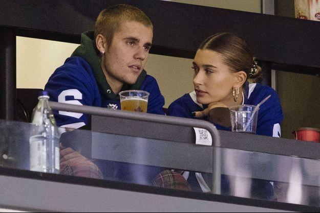 Justin Bieber et sa femme Hailey Baldwin-Bieber à Toronto le 24 novembre 2018