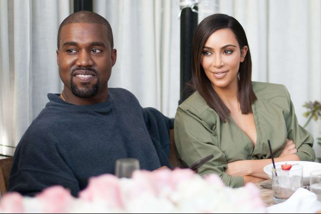 Kim Kardashian et Kanye West lors d'un déjeuner à Los Angeles, le 31 juillet 2016.