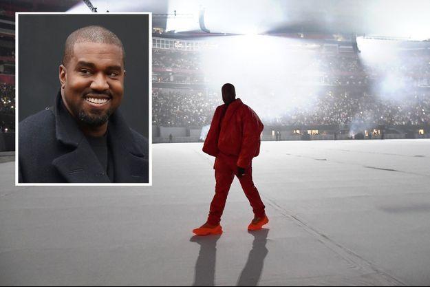 Kanye West à son concert privé, le 22 juillet 2021 à Atlanta.
