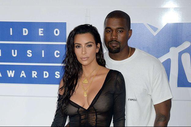 Kim Kardashian et Kanye West en 2016.
