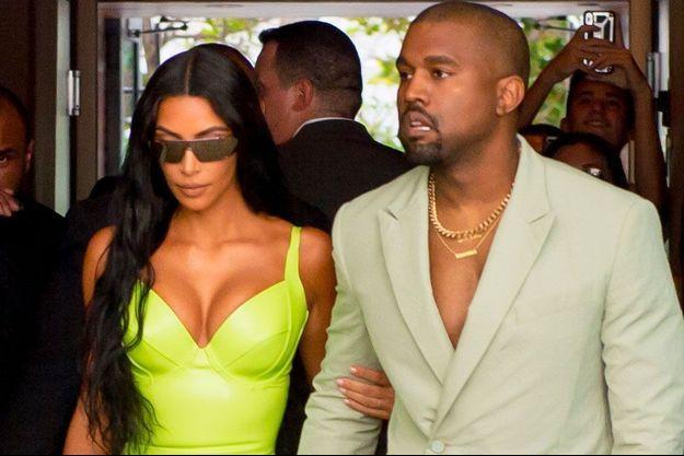 Kim Kardashian et Kanye West à Miami, le 18 août 2018
