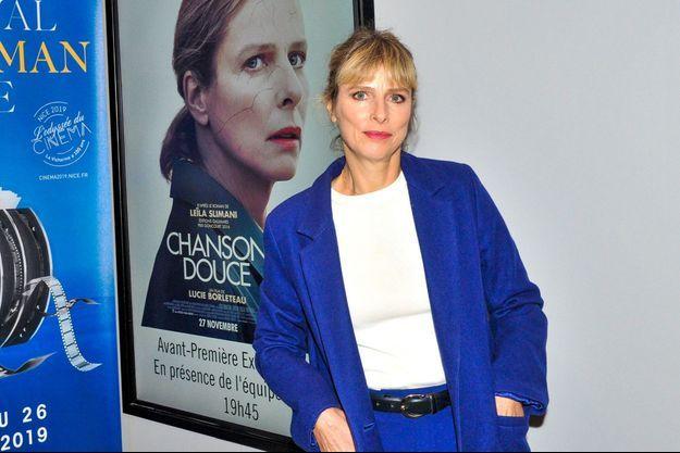 """Karin Viard lors de la projection du film """"Chanson douce"""" à Nice le 24 octobre 2019."""