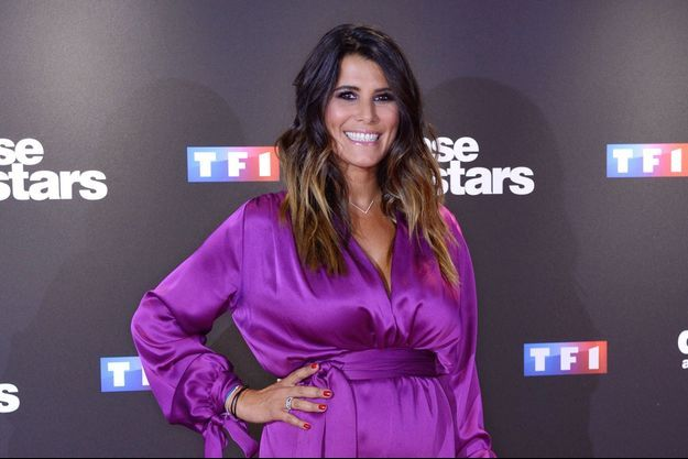 """Karine Ferri lors du photocall de """"Danse avec les stars"""" à Paris, le 11 septembre 2018"""