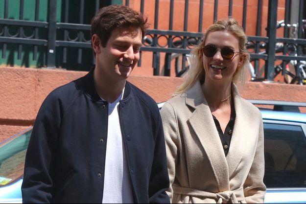 Karlie Kloss et Joshua Kushner à New York, le 28 avril 2018
