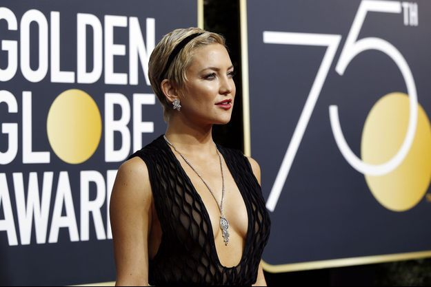 Kate Hudson aux Golden Globes en janvier 2018.