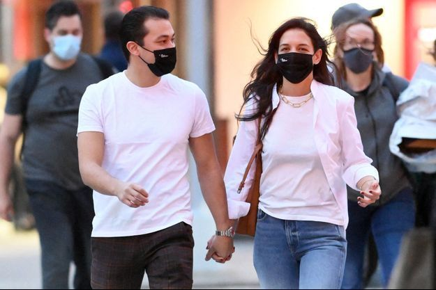 Katie Holmes et Emilio Vitolo Jr. le 21 novembre, à New York.