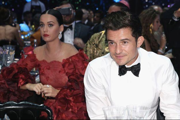 Katy Perry et Orlando Bloom au gala de l'amfAR, le 16 mai 2016