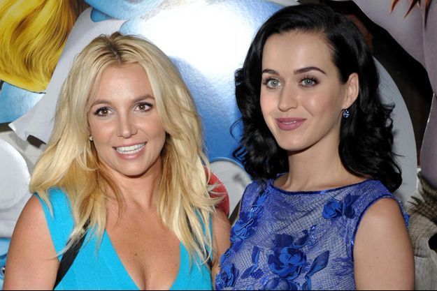 Britney Spears et Katy Perry en 2013.